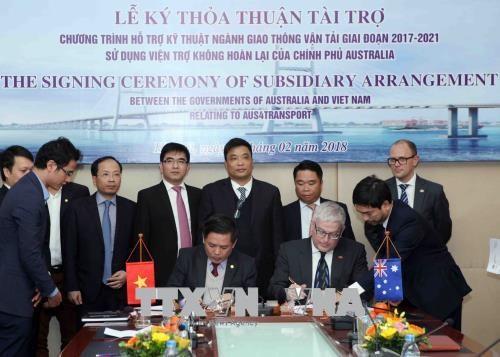 """越南与澳大利亚签署总值为2400万美元的""""交通运输技术资助项目""""启动协议 hinh anh 2"""
