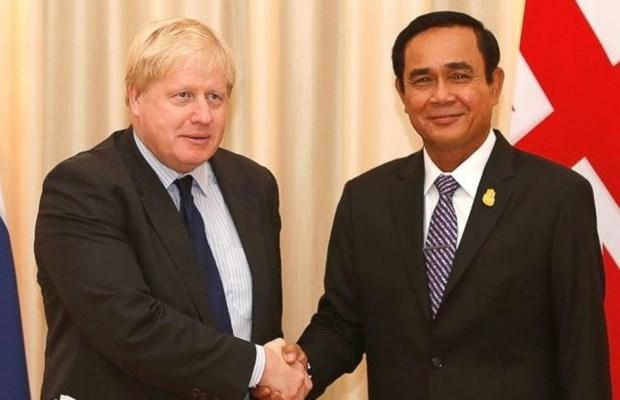 英国外长约翰逊访问泰国 hinh anh 1