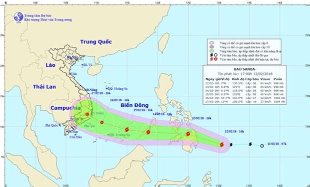 台风三巴即将来袭 各地主动做好台风防范工作 hinh anh 1