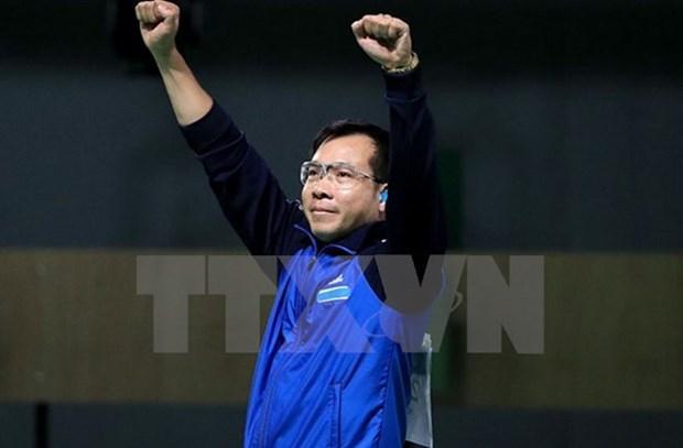 男子10米气手枪世界最新排名:越南射击运动员黄春荣居第二位 hinh anh 1