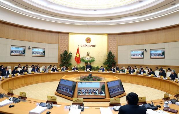 越南政府2018年1月例行会议决议:力争在各行业各领域创造新突破 hinh anh 1