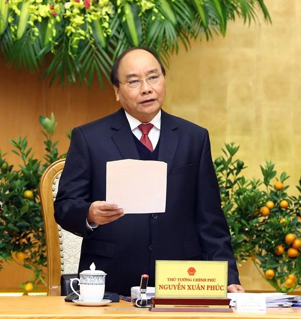 越南政府2018年1月例行会议决议:力争在各行业各领域创造新突破 hinh anh 2