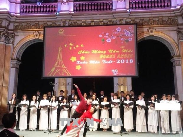 旅法越侨欢庆春节 hinh anh 2