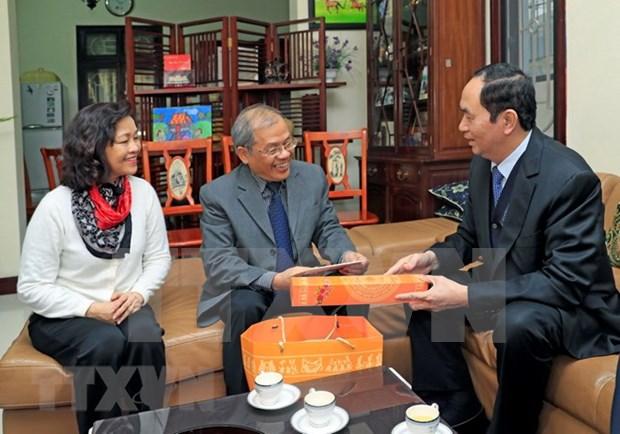 国家主席陈大光给河内市知识分子的杰出典范拜年 hinh anh 1