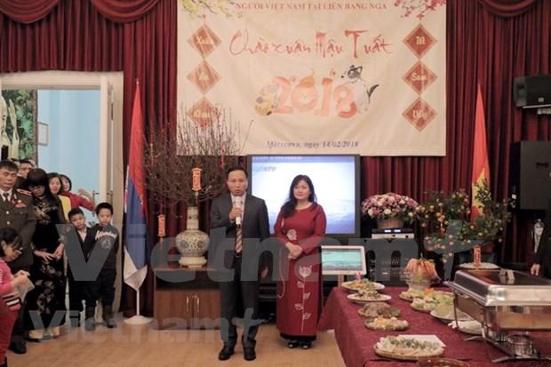 旅居俄罗斯和柬埔寨越南人过年的温馨气氛 hinh anh 1
