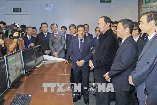 越南国家主席陈大光向春节在岗值班人员拜年 hinh anh 3