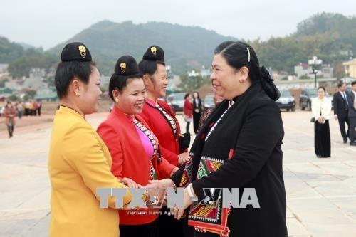国会副主席丛氏放与山罗省人民共度春节 hinh anh 1