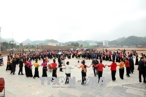 国会副主席丛氏放与山罗省人民共度春节 hinh anh 3