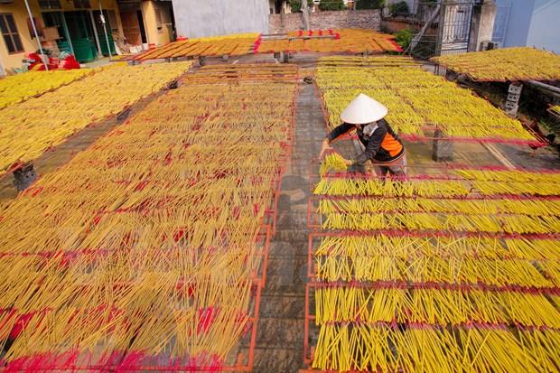 春节到访兴安省传承数百年的制香工艺村 hinh anh 1