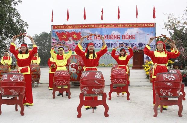 太原省:2018年戊戌春节下田节热闹非凡 hinh anh 3