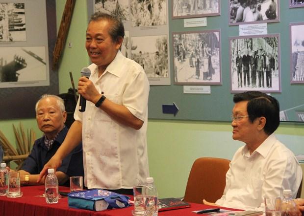 政府副总理张和平出席被敌人囚禁的老革命战士见面会 hinh anh 3