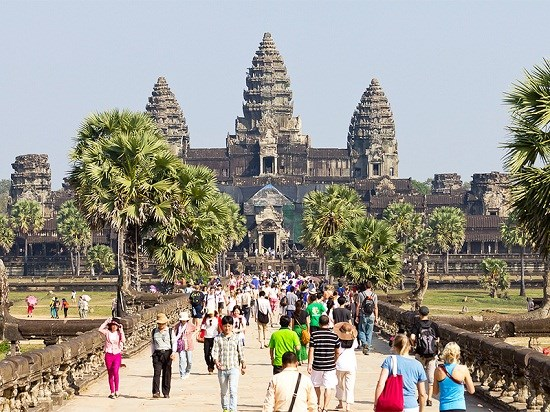 2018年春节柬埔寨接待游客达近100万人次 hinh anh 1