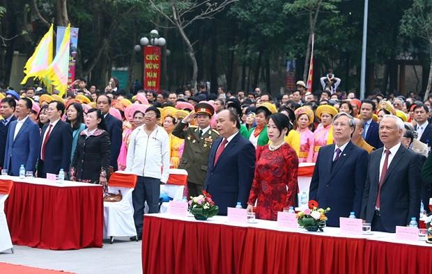 政府总理阮春福出席纪念玉回—栋多大捷229周年的栋多丘庙会 hinh anh 1