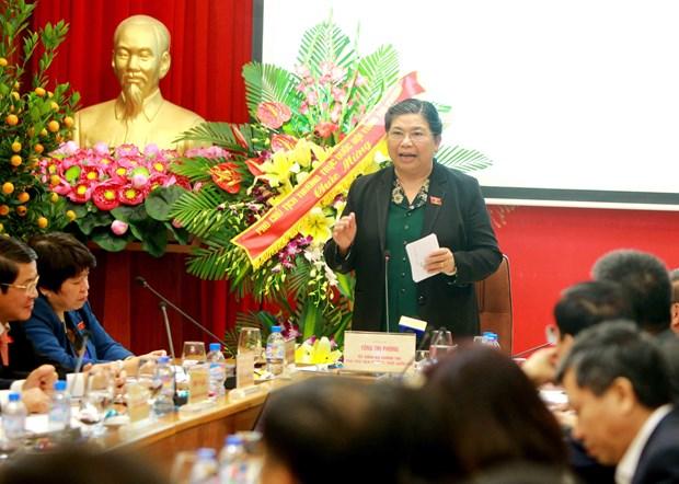 国会副主席丛氏放到越南社会保险机构调研 hinh anh 1