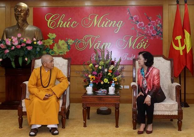 越共中央民运部长张氏梅:承天顺化省佛教一向与民族同行 hinh anh 1