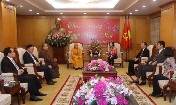 越共中央民运部长张氏梅:承天顺化省佛教一向与民族同行 hinh anh 2