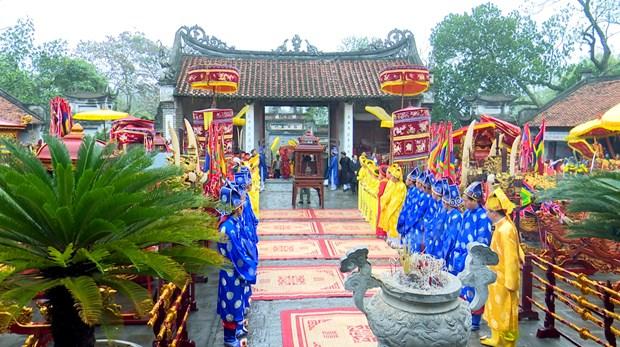新年伊始越南各地传统春节庙会纷纷热闹登场 hinh anh 3