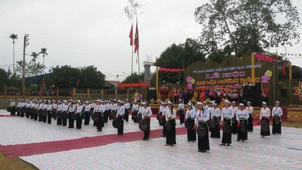 新年伊始越南各地传统春节庙会纷纷热闹登场 hinh anh 1