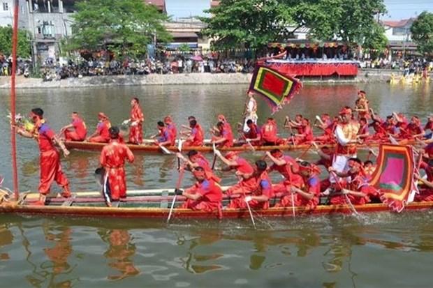 河内市首次举行传统龙舟赛 hinh anh 1