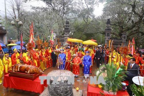 新年伊始越南各地传统春节庙会纷纷热闹登场 hinh anh 2