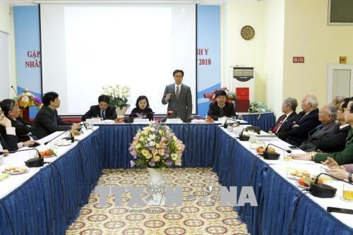 政府副总理武德儋走访越南医学总会和越南红十字协会 hinh anh 1