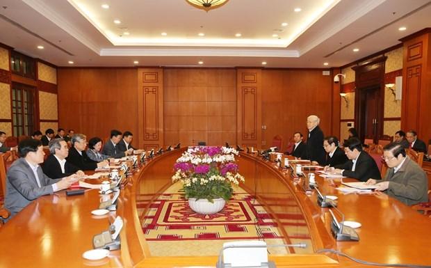越共中央书记处就2018戊戌年迎春工作第16号指示落实结果进行评估 hinh anh 1