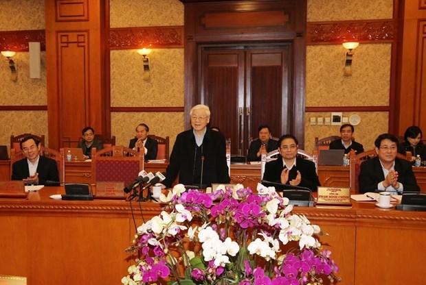 越共中央书记处就2018戊戌年迎春工作第16号指示落实结果进行评估 hinh anh 2