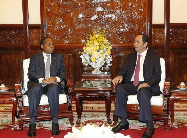 国家主席陈大光会见莫桑比克驻越南大使穆关贝 hinh anh 1
