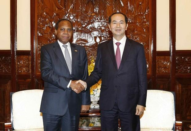 国家主席陈大光会见莫桑比克驻越南大使穆关贝 hinh anh 2