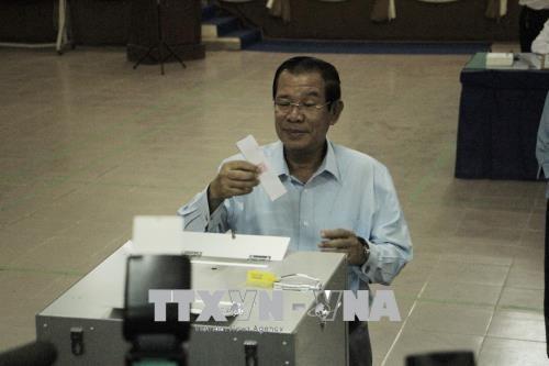柬埔寨第四届参议院选举今日上午举行 hinh anh 1