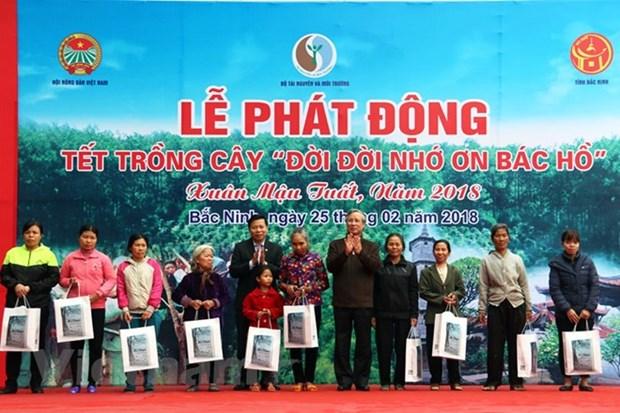 陈国旺出席在北宁省举行的植树节启动仪式 hinh anh 1