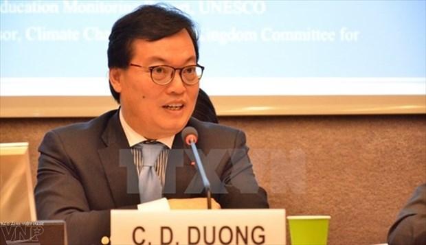 越南常驻联合国日内瓦代表团举办2018戊戌年新春见面会 hinh anh 1