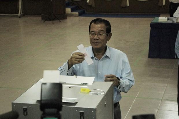 初步统计显示人民党赢得柬埔寨参议院选举 hinh anh 1