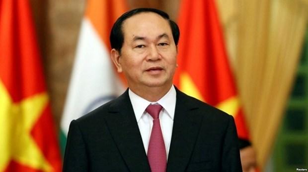印度媒体高度评价越南国家主席陈大光访印之旅 hinh anh 1