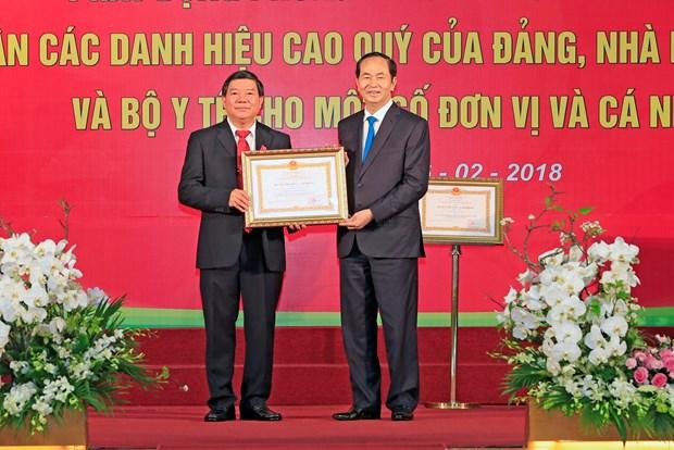 国家主席陈大光:提高医疗卫生服务和人民保健工作质量 hinh anh 3