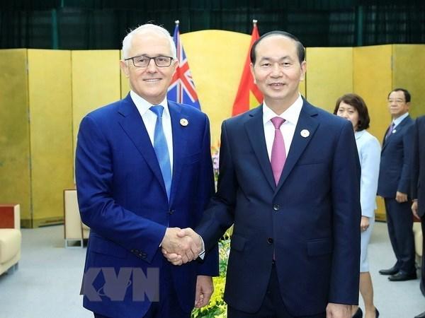 越南领导人向澳大利亚领导人致贺电庆祝越澳关系建交45周年 hinh anh 1