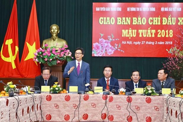 越南政府副总理武德儋:新闻媒体为经济社会的发展做出积极贡献 hinh anh 1