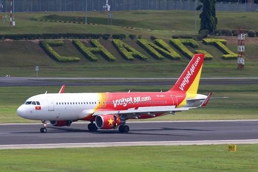 越捷将在新加坡樟宜国际机场T4航站楼运营 hinh anh 1