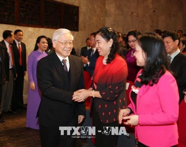 越共中央总书记阮富仲出席越南医师节庆典 hinh anh 1