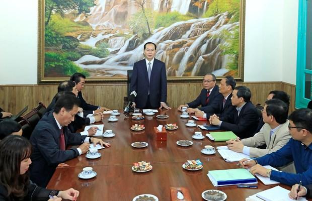 陈大光与中央司法改革指导委员会办公厅举行工作会谈 hinh anh 1