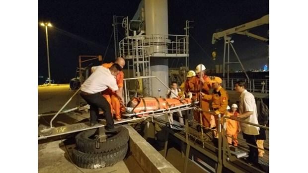 越南成功救助一名心肌梗塞的菲律宾籍船员 hinh anh 1