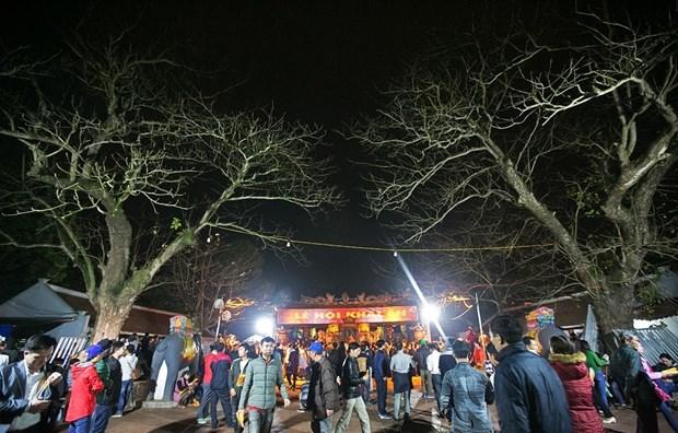 数万名游客涌入南定省参加2018戊戌年陈祠开印仪式 hinh anh 1