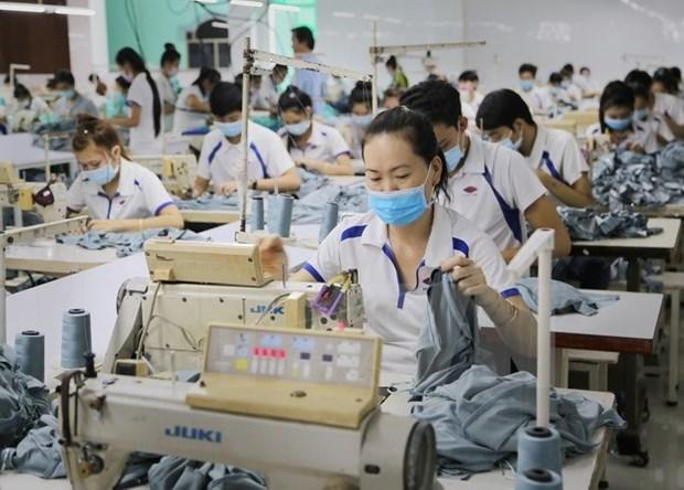 今年前两月承天顺化省纺织品服装出口额同比增长25.2% hinh anh 1