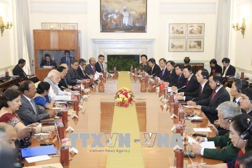 越南国家主席陈大光与印度总理莫迪举行会谈 hinh anh 1