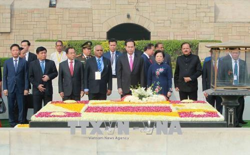 印度总统科温德主持仪式 欢迎越南国家主席陈大光访印 hinh anh 2