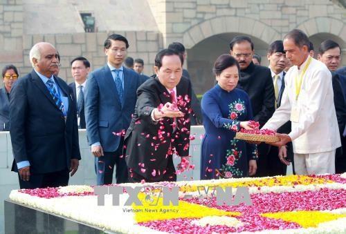印度总统科温德主持仪式 欢迎越南国家主席陈大光访印 hinh anh 1