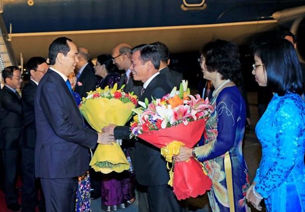 越南国家主席陈大光开始对印度共和国进行国事访问 hinh anh 1