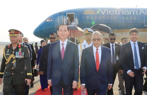 孟加拉国媒体:陈大光主席孟加拉国之行具有重要意义 hinh anh 1