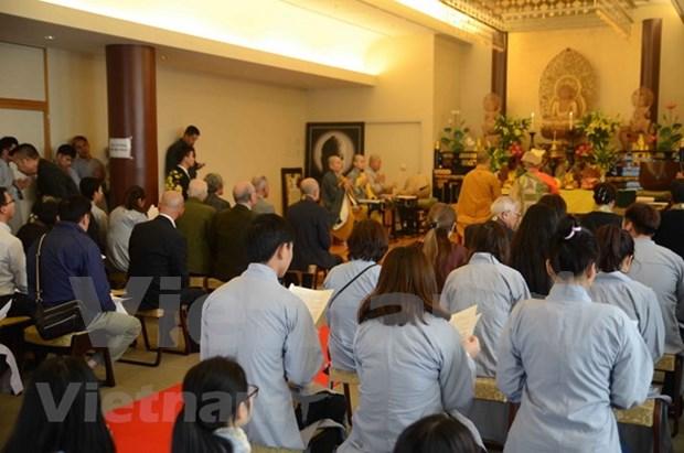 在日越南佛教协会为在鬼鹿角礁海战牺牲的英烈举行超度法会 hinh anh 1
