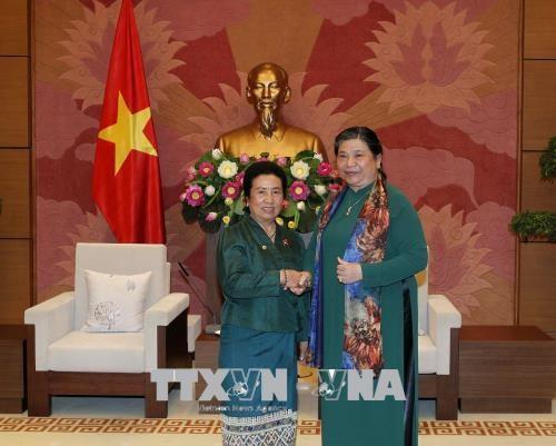 加强越老两国国会民族委员会的合作 hinh anh 2